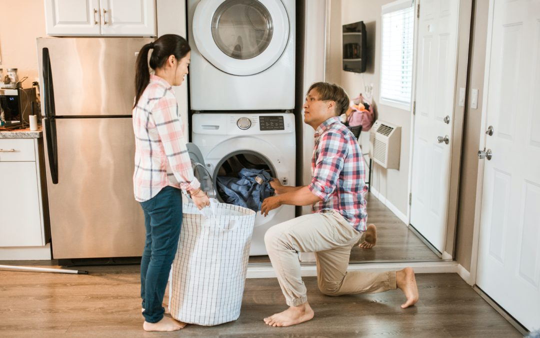 Washer and dryer in rental